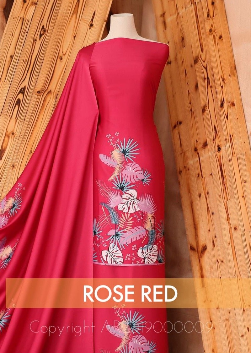 Tropical Leaves – Rose Red