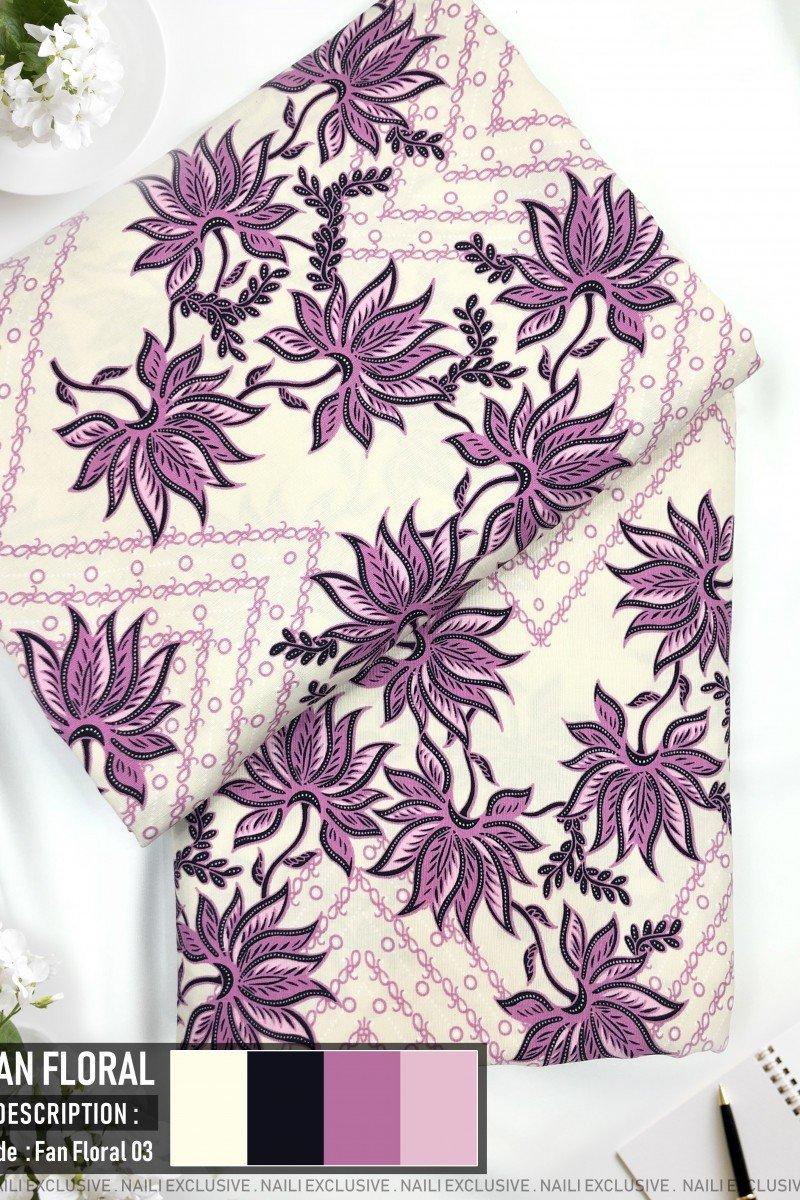 Batik Fan Floral 03