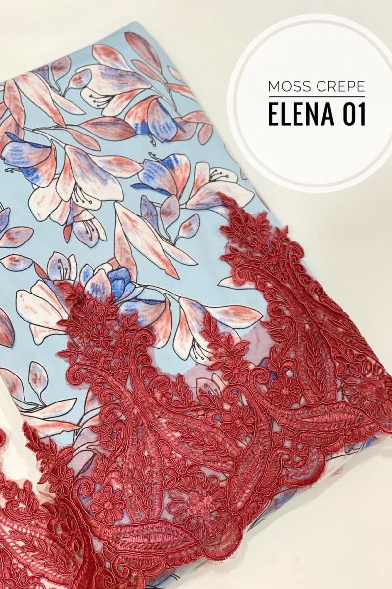 Elena A01 (Moss Crepe+Lace)