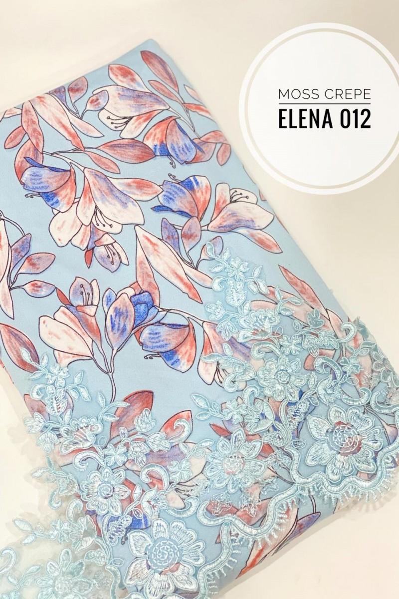 Elena A02 (Moss Crepe+Lace)