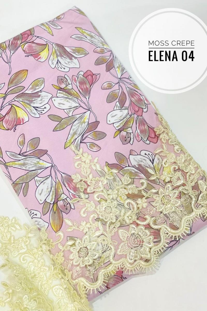 Elena A04 (Moss Crepe+Lace)