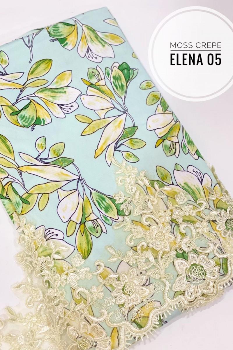 Elena A05 (Moss Crepe+Lace)
