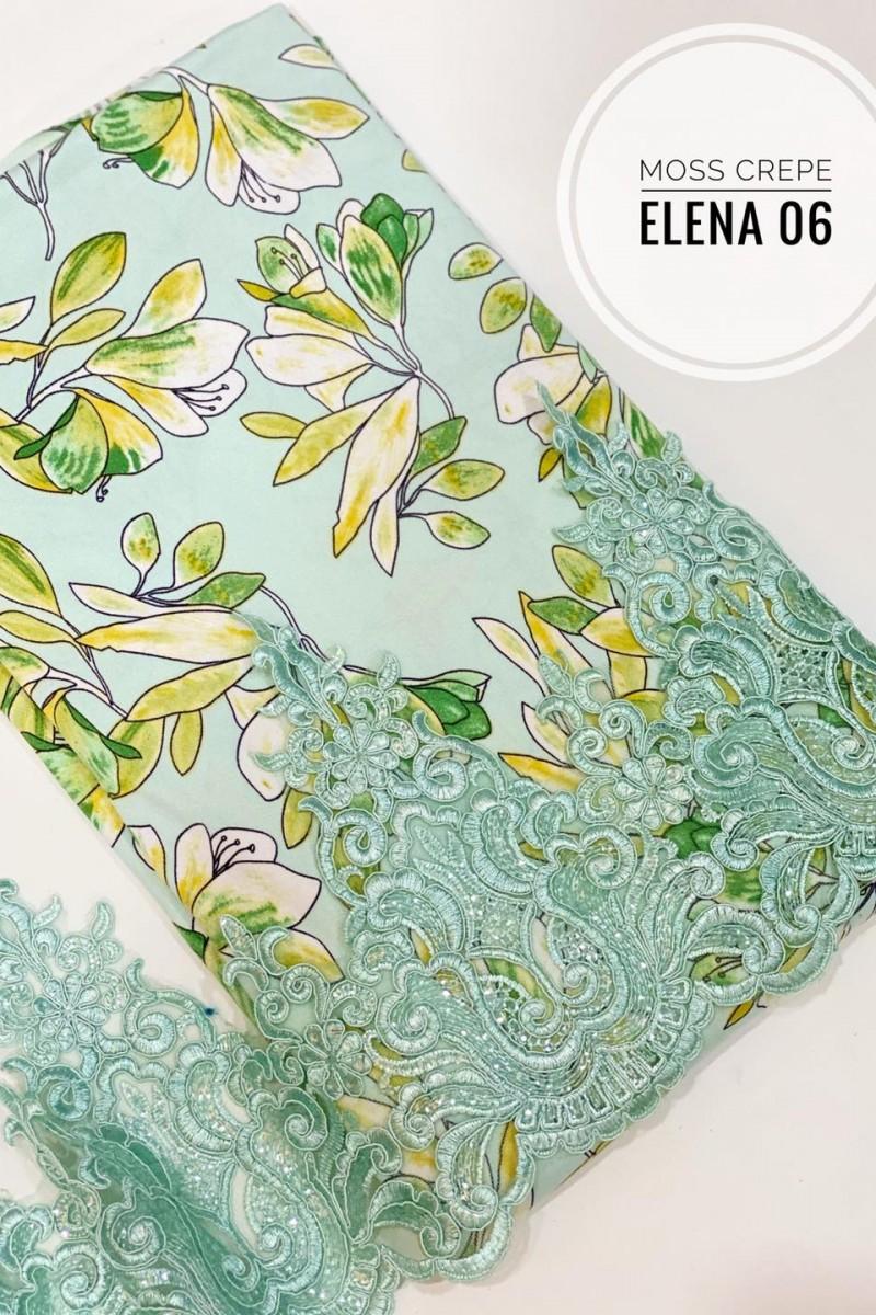 Elena A06 (Moss Crepe+Lace)