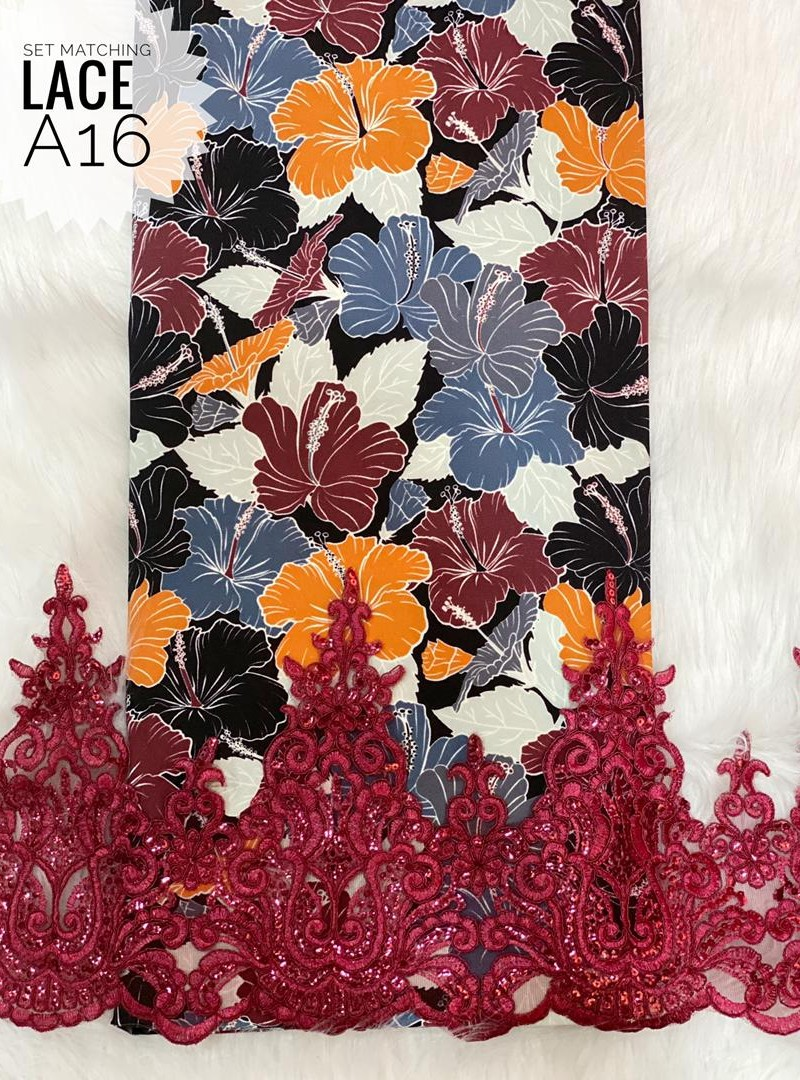 A16 – Matching Moss Crepe Lace