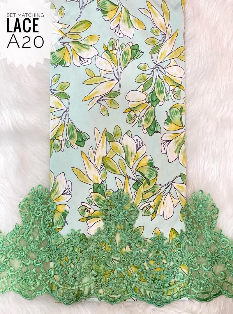 A20 – Matching Moss Crepe Lace