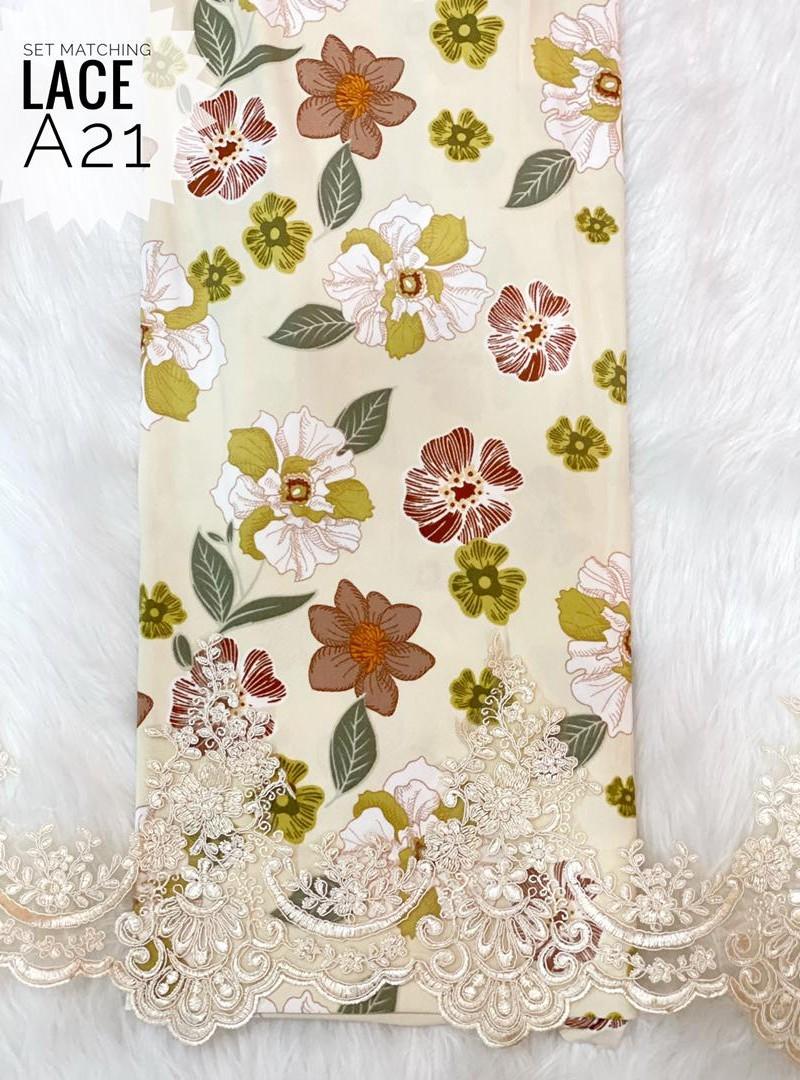 A21 – Matching Moss Crepe Lace