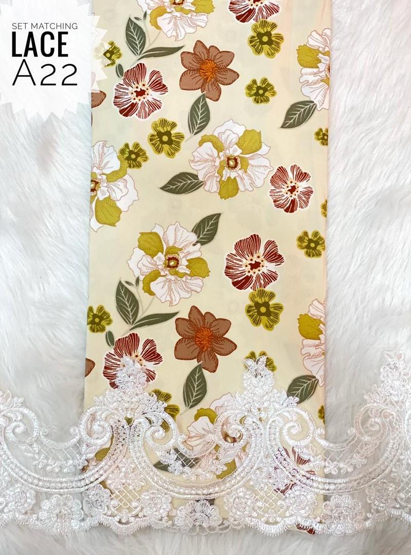 A22 – Matching Moss Crepe Lace