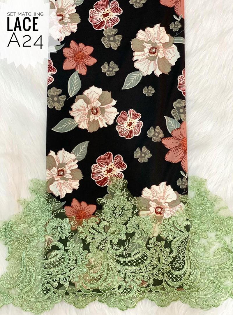 A24 – Matching Moss Crepe Lace