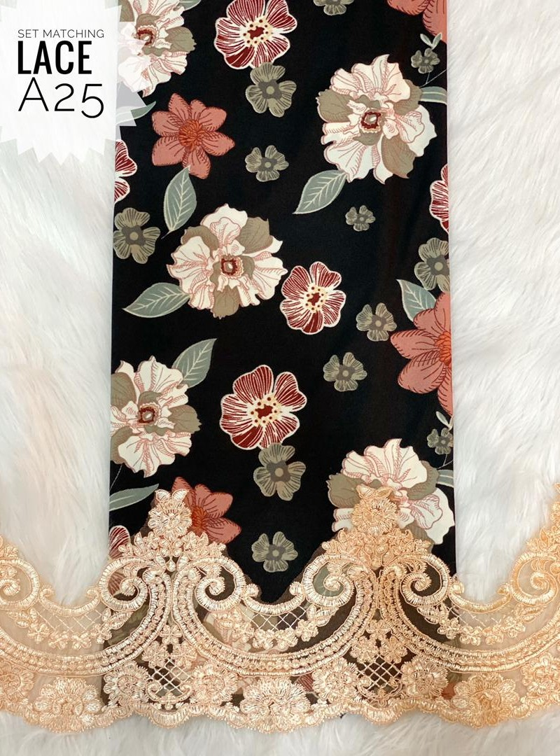 A25 – Matching Moss Crepe Lace