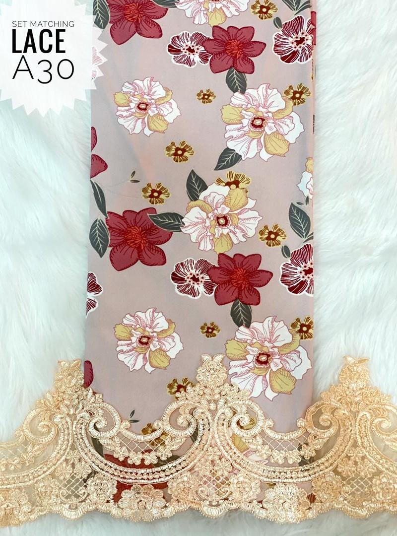 A30 – Matching Moss Crepe Lace