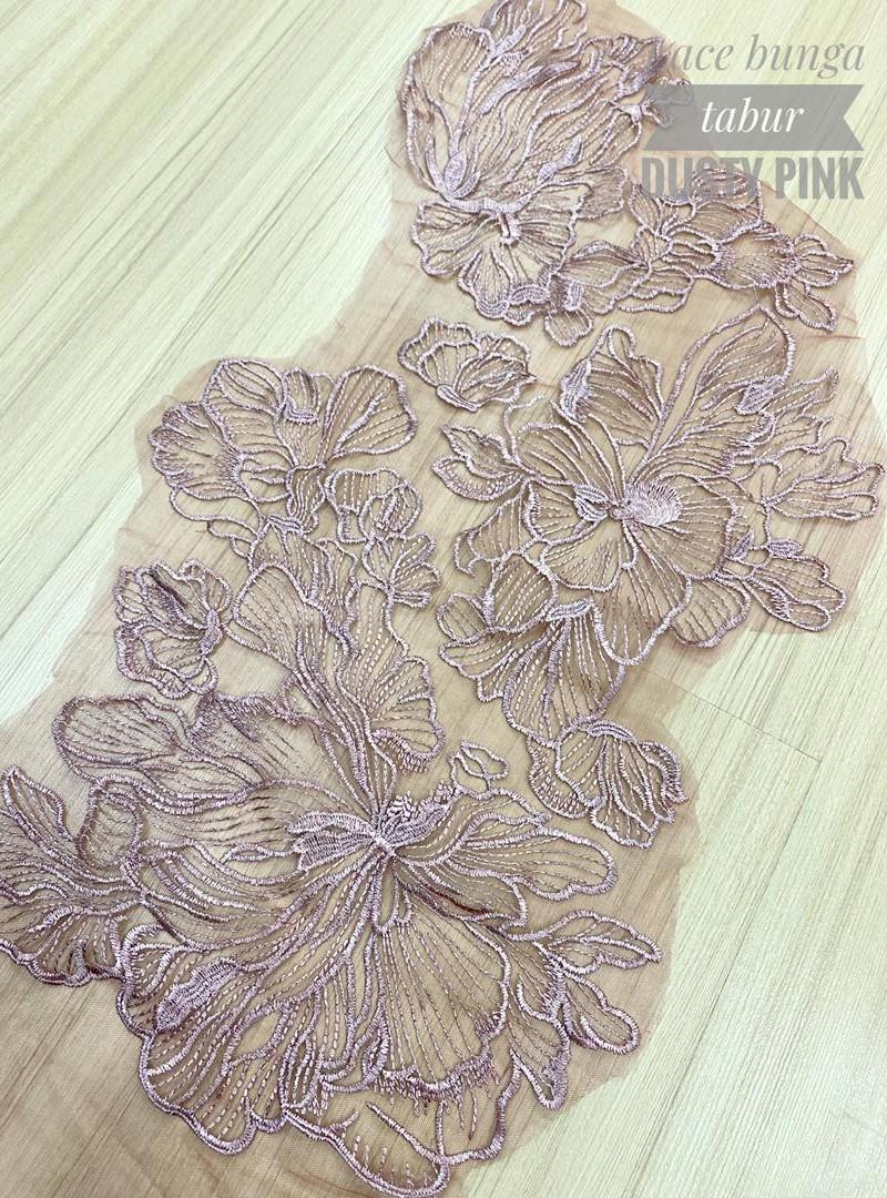 Lace Bunga Tabur – Dusty Pink