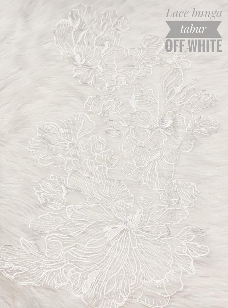 Lace Bunga Tabur – Off White