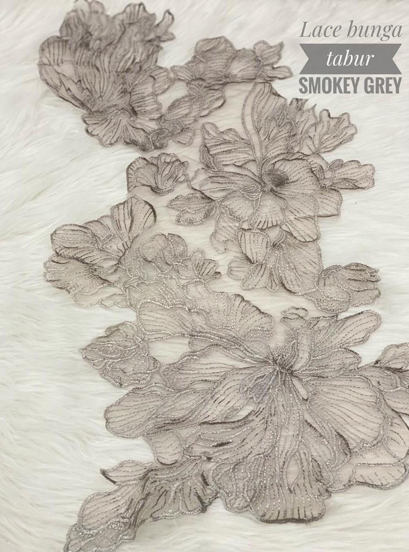 Lace Bunga Tabur – Smokey Grey