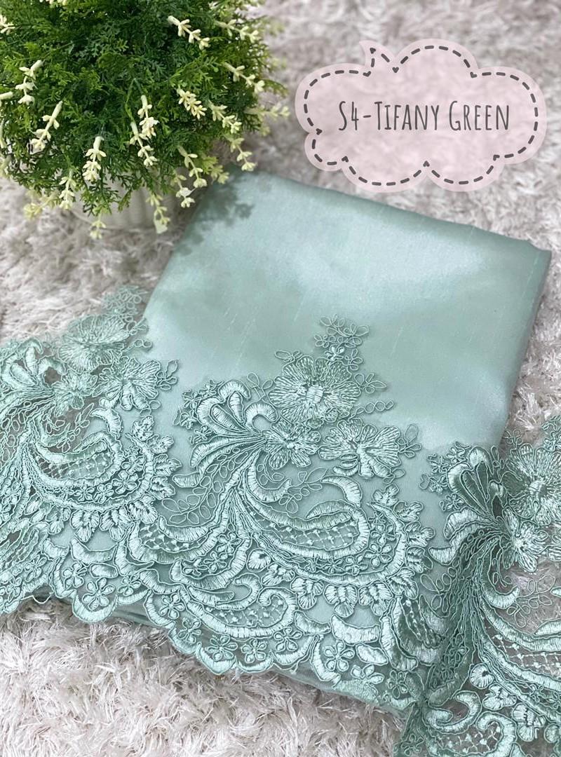 Set Lace Shantung S4 (Tifany Green)